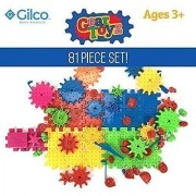 Gear Toyz - Spinning Gear Puzzle - Interlocking Blocks - 81 Pieces - Ideal Toy For Children - Motorized Gears - Creative and Imaginative