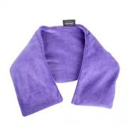 Fashy 6305 55 Cuscino caldo con aroma lavanda e imbottitura in argilla curativa, federa in velluto felpato, 17x60 cm
