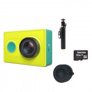 Camara Xiaomi Xiaoyi Sports + Monopod + cubierta de la lente + 32GB TF - Verde