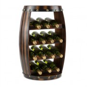 Klarstein Barrica Wood Wine Rack Wine Barrels Bottle Rack 14 Bottles Spruce