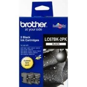 Original Brother LC67BK Black Ink Cartridge Twinpack of LC-67BK (LC67BK2PK)