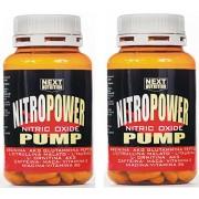 Pre Workout 2Pack Power Pump Nitro (120 tabletas - 138 gr gramos) con Arginina alfa-cetoglutarato (AKG) - Glutamina Péptidos - L-malato de citrulina - L-Taurina - L-ornitina alfa cetoglutarato - Vitamina C - Vitamina E - Niacina - Vitamina B6 - cafeína -