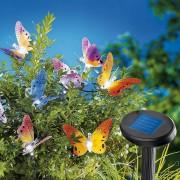 Decoratiune de gradina ghirlanda solara Fluturi