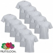 Fruit of the Loom 10 Magliette Taglie Forti Value Weight Grigie 4XL