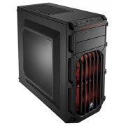 Corsair CC-9011054-WW Case Essential Gaming Mid Tower Atx Carbide Spec-03 Con Finestra e Ventola Frontale a LED, Arancione/Nero