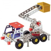 Magideal Metal Lift Truck DIY Toy Assembly Model Kit Construction Vehicle F