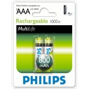 Baterije Philips R03 AAA punjive 800mAh B2