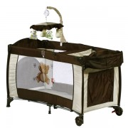 Patut pliant BabyGo Sleeper Deluxe brown