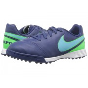 Nike Jr Tiempo Legend VI TF Soccer (ToddlerLittle KidBig Kid) Coastal BlueRage GreenPolarized Blue
