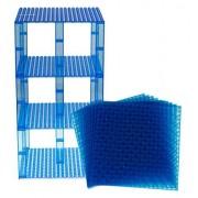 "Premium Clear Blue Stackable Base Plates 10 Pack 6"" X 6"" Baseplate Bundle With 80 Clear Blue Bonus Building Bricks (Lego Compatible) Tower Construction"