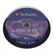 DVD+R DL Verbatim 8X Doble Capa Tarrina 10 uds