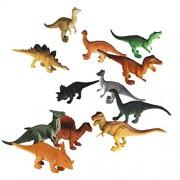 12pcs Juguetes Modelo de Dinosaurios de Plástico Juguetes Plásticos