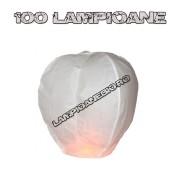 100 Lampioane Zburatoare Albe