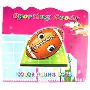 Carte de colorat cu activitati sportive - rugby