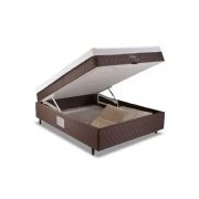 Conjugado Box Baú Herval Dubai Comfort Ravena - ColchãoBox-1,38x1,88x0,52-Unificado