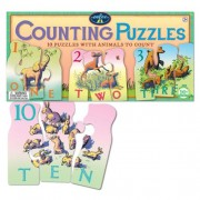 Animal Counting Puzzles 10 Puzzles with Animals to Count for Children