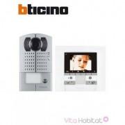 BTICINO KIT Interphone vidéo BTICINO MEMORY DISPLAY - Saillie - 1 appel - BTICINO 369411