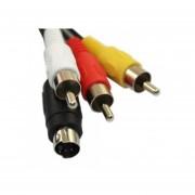 5 FT S-Video A RCA 3 Cable AV Compuesto