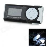 """1.0"""" écran OLED Lecteur MP3 w / torche / Clip / TF / Mini USB / 3,5 mm - blanc + noir"""
