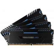 Memorii Corsair Vengeance LED Blue DDR4, 4x8GB, 3000 MHz, CL 15