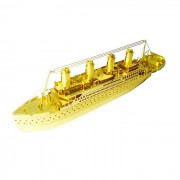 3D tridimensional DIY Asamblea Titanic modelo de juguete - Oro