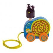 Vaya colorido Tire lo largo del juguete con la rotación de los elementos en el Super lindo Diseño Caracol