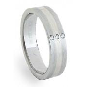 Ocelový prsten se stříbrem ZAG06153