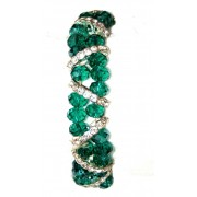 Green Crystal Bracelet and Diamantes