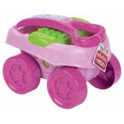 Jucărie de construit în maşinuţă Abrick Maxi Écoiffier pentru fetiţe 7712 roz