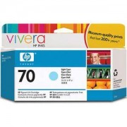 HP 70 130 ml Light Cyan Ink Cartridge with Vivera Ink, HP Designjet Z2100, Z3100 - C9390A