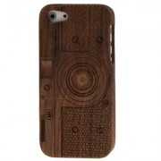 Camera Pattern Detachable Wood Material Case for iPhone 5