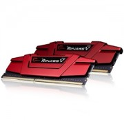 Memorie G.Skill Ripjaws V Blazing Red 32GB (2x16GB) DDR4 2666MHz CL15 1.2V Intel Z170 Ready XMP 2.0 Dual Channel Kit, F4-2666C15D-32GVR