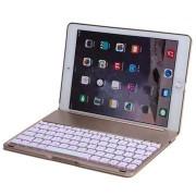 Teclado Bluetooth e Capa Witspad F8S Luminous Aluminum para iPad Air 2 - Dourado