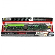 Jakks Pacific Year 2014 Power City Trains Series 6 Battery Powered Motorized Train Engine Set - SPY DEFENSE FREIGHT with