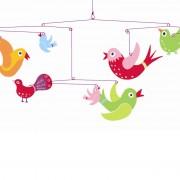 Decoraţii mobile camera copilului cu păsări Djeco