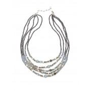 Walbusch Kette Pearls of Grey Grau 01