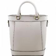 Sac Seau Cuir Femme Gris-Tuscany Leather-