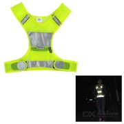 Salzmann Outdoor Cycling Jogging Reflective Safety Halter Vest - Fluorescent Yellow (S)