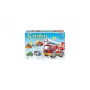 Puzzle Educa Vehicles baby, 5 in 1