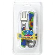 Stephen Joseph Fork and Spoon Set Dino
