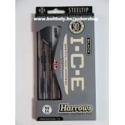 Harrows Black I.C.E 90% fém hegyes darts készlet STEELTIP