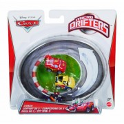 Cars Micro Drifters Max Schnell, Lightning McQueen and Jeff Gorvette Vehicle, by Mattel