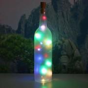 rosegal Decorative Colorful 2PCS Bottle Stopper LED String Light