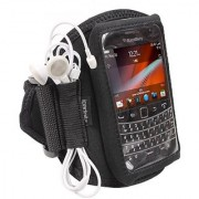 iGadgitz Black Water Resistant Neoprene Sports Gym Jogging Armband for BlackBerry Bold Touch 9900 9930 Smartphone Cell P