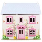 Bigjigs - Casa de muñecas, color rosa (BIJT101)