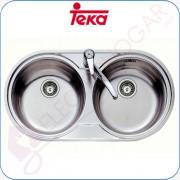 Fregadero Teka DR 80 2C, Acero inoxidable 18/10, profundidad 160mm, mu
