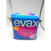 EVAX COTTONLIKE NORMAL CON ALAS PACK 2 PAQUETES 8X2- 16 U