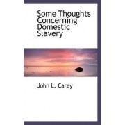 Some Thoughts Concerning Domestic Slavery by John L Carey