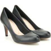 Clarks Carlita Cove Black Leather Slip on(Black)