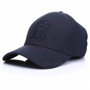 Exterior unisex general bordado sombrero de sol gorra de beisbol - azul oscuro